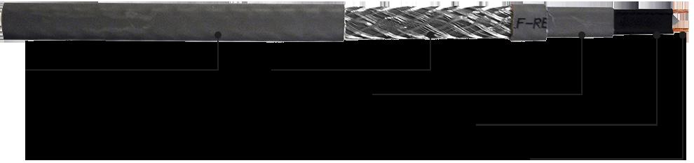 Саморегулирующийся греющий кабель GWS-CR. Конструкция